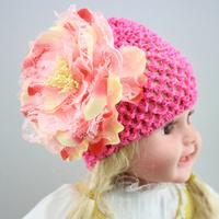 European&American fashion    baby  flower hats  south korea  silk infant hat  wholesale  12pcs/lot  free shipping