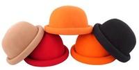 Retail & Wholesale Elegent Fashionale Vintage Fashion Wool Women's Cute Lady Hat Trendy Bowler Derby Hat Men's Cloche Freeship