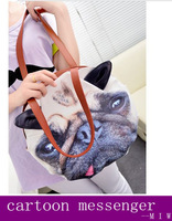 2014 new fashion Personalized PU vintage handbag shoulder bag  big  aninal prints fashion handbags  bolsas totes freeship