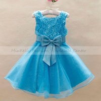 Retail Fashion Kids formal lace dress baby clothes for Baby girls Wedding Flower Bridesmaid Princess Dresses Christmas2-9 years