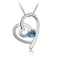 Hot-selling Fashion accessories crystal pendant austria crystal soul to soul women Pendants necklace