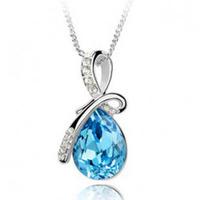 Wholesale crystal necklace female short design Large angel tears necklace drop women Pendants necklace