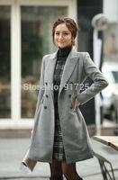 New Designed Women's Warm Woolen Trench Coat Fashion Double-breasted Winter Uniform Style Overcoat Outwear plus size XXL
