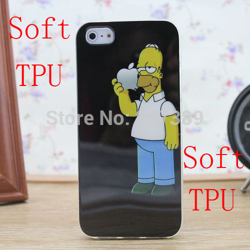 New arrival for iphone 5 5s case Homer simpson soft TPU design cell phone back skin cases cover for iphone5s free shipping(China (Mainland))
