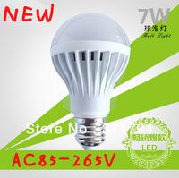 5X/lot led bulb lamp High brightness E27 5W 7W 12W 2835/5050SMDwarm white AC85-265VDC-12V