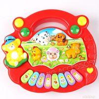 1PC Red Boy&Girl Baby Kid Animal Farm Plastic Electronic Piano Educational Music Toy For Child Developmental CX670363