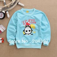 Wholesale (3pcs/lot ) Spring / Autumn Children Cotton lovely penuins Sweatshirt Long sleeve Outerwear Coat Free Shipping