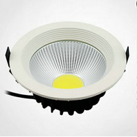 "Free shiping 20w LED Downlight  6"" COB AC85~265V,AL+PMMA,White Paint"