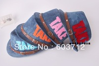 New Arrival Take  Jeans baby fedora hats With Leather (5pcs/lot) free shipping