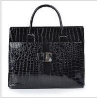 new 2013 European American women fashion brand crocodile pattern fashion office messenger handbags leather shoulder bags 8