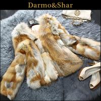Free shipping Fox fur fox fur coat short design women's 2013 fur