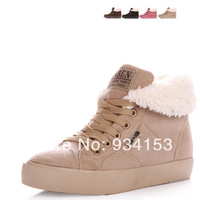 2013 Hot-Selling Spring Autumn Winter Velutinous Thermal Liner Snow Boots High-Top High Increased Winter Boots Shoes Woman
