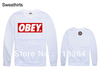 New arrival long-sleeve sweatshirt obey o-neck hiphop spring and autumn pullover sweatshirt