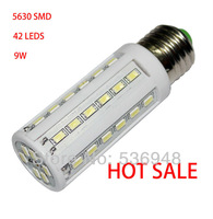 E27 9W 42 LED 5630 LED Corn  Bulb Lamp Warm White Cool White High light