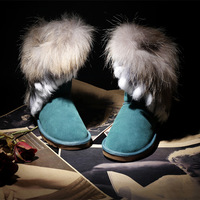 Free Shipping , wholesale or retail IVG snow boots fur boots winter boots women boots leather cowhide