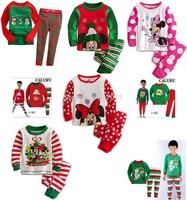 2014 New design Kids Pyjamas Baby Girl Cotton Cartoon Sleepwear Children Wear baby Homewear clothing 2-7Y 2pcs/set