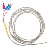 Pt100 Food Temperature Sensors 2M Stainless steel Thermocouple Sensor Probe for Temperature Measure
