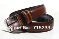 2013 Fashion Cowskin Leather Men Brief Cowhide Genuine Strap Buckle Casual High quality Belt  king-size 140cm