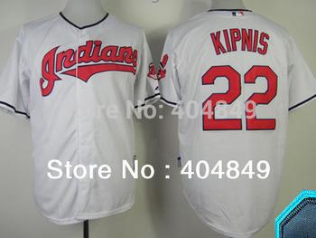 AA+ 22 multi type Jason Kipnis jersey, Indians new white gray ivory navy authentic jersey