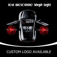 3D Logo Car LED Emblem Welcome Light Door Step Ground LED Logo Light Zombie Outbreak Response Team Puddle Light 1518 Red