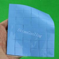 1000pcs Set 15X15x2mm Blue Conduction Heatsink Thermal Paste Compounds Pad Pads