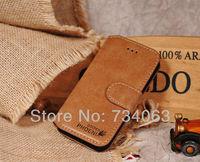 20pcs Slim Luxury Golden Phoenix Genuine Leather Case for Samsung Galaxy i9300 9300 Wallet Flip Design Case Free Shipping (66Z)
