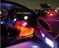 3pcs/lot CAR Flexible Neon Light 3M EL wire electroluminescent neon wire car decoration  line Color options cars (2.3mm)