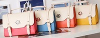 Hot Sale 2013 New Designer Handbags Vintage Candy Color Pu Leather Postman Bag Crossbody Bags For Women