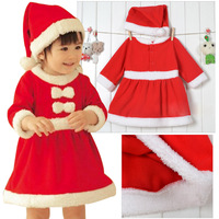 2014 Kids Baby Romper Toddlers Girls Boys Christmas Dresses Winter Cotton Cute Children Clothes Age 6-24 M