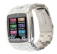 2013 new watch phone TW810 Quad Band Camera Bluetooth Java GPRS 1.6-inch Touch Screen Watch Phone Silver or Black Free Ship