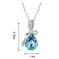 Fashion Austria Crystal  l Angel Tears bow water drop necklace