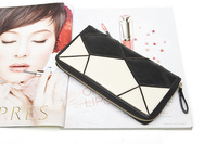 Promotion, 2013 Autumn New Women Genuine Leather Wallet, Ling Plaid Carteiras,Fashion Style Design, Free Shipping