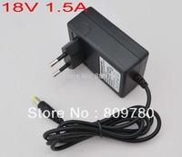 1PCS AC 100V-240V Converter Adapter DC 18V 1.5A CCTV Camera Power Supply EU plug 1500mA Free shipping