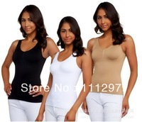 Free Shipping 100pcs/lot Cami shaper by Genie with Removable Pads Look Thinner Instantly the Ultimate 3 in 1 Garment
