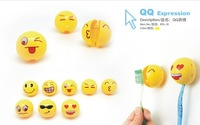 10pcs/Lot China QQ expression toothbrush holder Cute Toothbrush Suckers Free Shipping