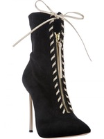 FREE SHIPPING boots for women 2013 genuine leather autumn new fashion thin high heel pointed boots,heel 12,wholesale,hot