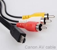 10pcs av stereo video audio cable mini usb to rca for 600d 700d 5d 6d 7d 1000d 1100d 100d sx40 sx50 g12 g13 camera accessories