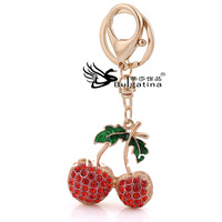 Fashionable Metal Key Chains With Plant Shape(Fruit),Handmade Key Chains 2013 Free Shipping Red