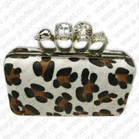 2013 leopard print box clutch party fashion evening bag skull for wowen