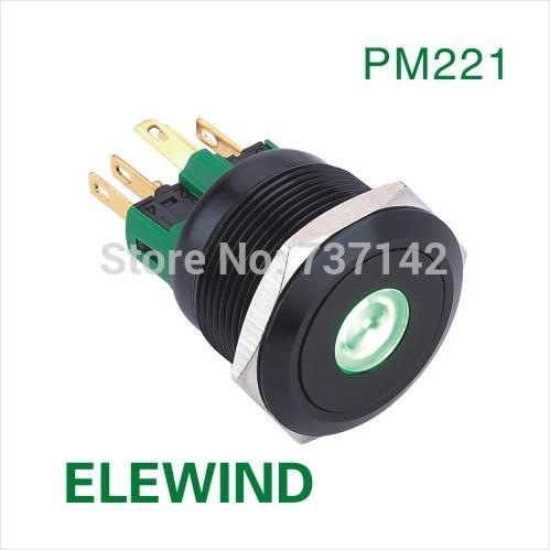 ELEWIND-22mm-Black-aluminum-Dot-illumina