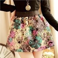 2014 vintage thickening woolen bud puff skirt bust short skirt for women WTP0109