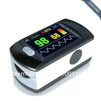 CMS50E Cost Price Color OLED Display Black Fingertip Pulse Oximeter, Blood Oxygen Monitor