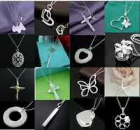 A10 // New Big promotion wholesale fashion 925 jewelry Chain silver plated Necklace, Factory Price hot sale Pendant Necklace