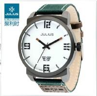 Authentic Korea Brand JULIUS Fashion Men's Quartz Wrist Watch Round Canavas Belt JA-542 4 color Round Calendar Date Waterproof