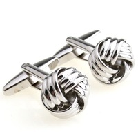 10000 pairs sold offline!!! Hot designer Knot Cufflinks for men men's metal ball personalized classic fashion cuff links