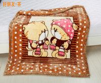 Child blanket thickening double layer baby   newborn  raschel  blankets130cm*105cm