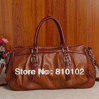 new 2014  women's genuine leather handbag calf skin fashion female handbag vintage messenger bag big bags free shipping