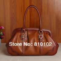 New 2014 women's real genuine leather handbag calf skin fashion horizontal casual handbag banquet bag woman messenger bags