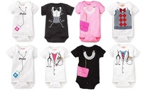 4pcs/lot 8 design fashion newborn baby rompers girls' romper boys' outfits cotton baby wear baby clothing