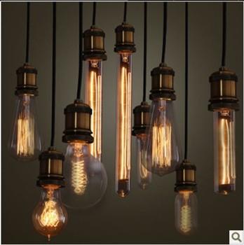 Promotion Full Complete Set 10pcs with Head Edison Vintage Silk Bulbs,Carbon Filament Lamp Bulbs,Nstalgic Retro Pendant Lighting